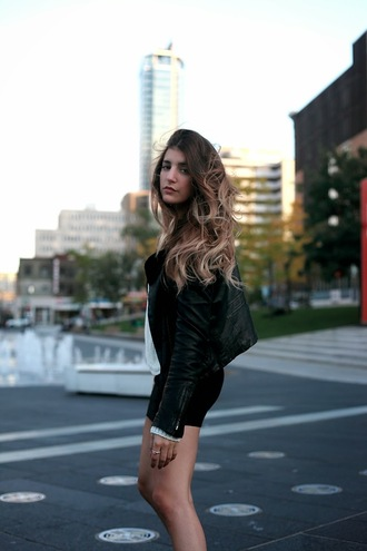 top blogger the boho flow jacket bag mini skirt leather jacket