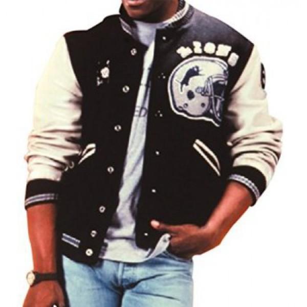 jacket eddiemurphy beverlyhillscop detroit lions jersey leather jacket clothes fashion celebrity style celebrity hollywood beverly hills entertainment gift ideas gift ideas mens jacket