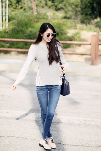 clothes to youuu blogger sweater jeans shoes bag