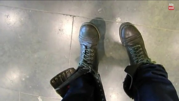 shoes laced combat military boots