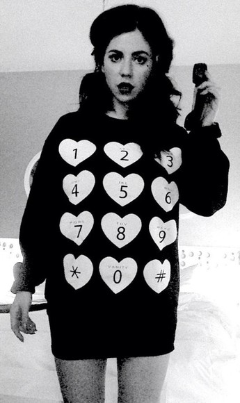phone sweater marina and the diamonds number