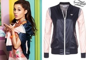 jacket,ariana grande,top,black jacket,adidas jacket,cat valentine