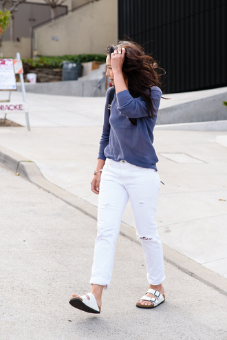 the fancy pants report blogger sweater jeans shoes