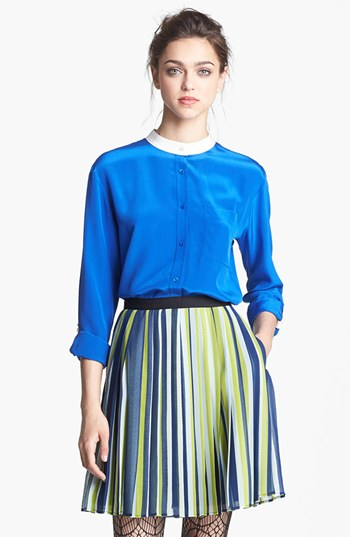 Miss Wu Pocket Crêpe de Chine Blouse (Nordstrom Exclusive) | Nordstrom