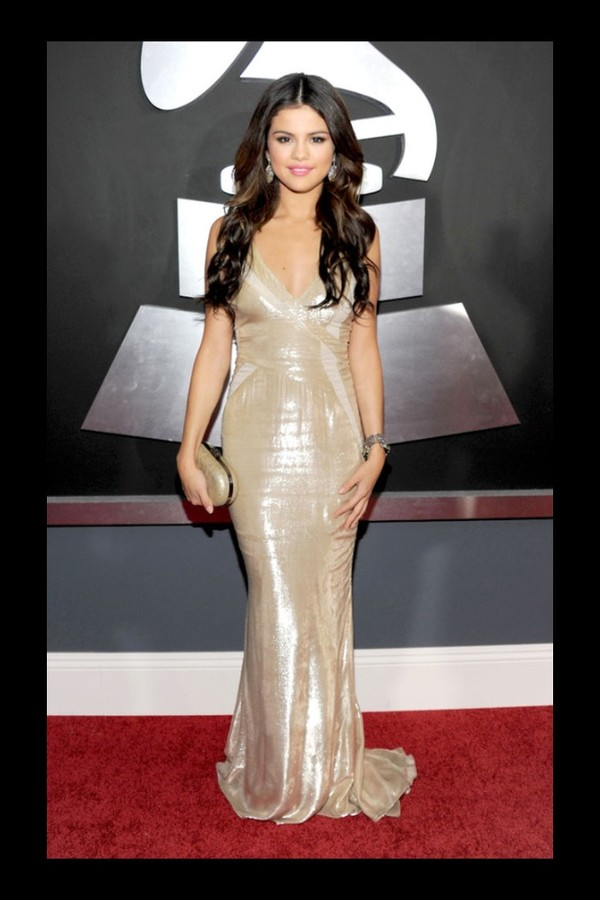 dress selena gomez white and gold dress cute dress sexy party dresses
