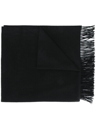 oversized women scarf black