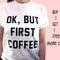 Ok ma prima caffè camicia, colazione pancake tumblr tee, ok ma primo caffè maglietta 100% cotone t-shirt, unisex