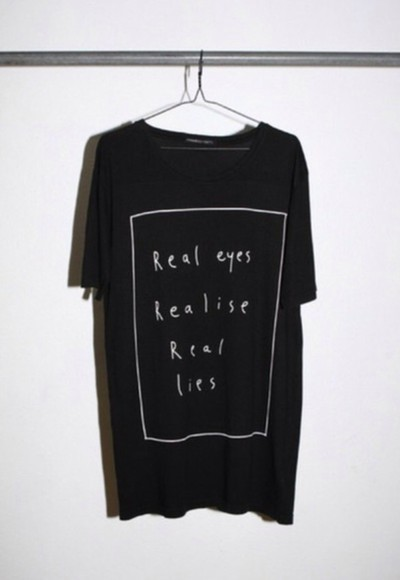 black t-shirt black t-shirt message tshirt real eyes