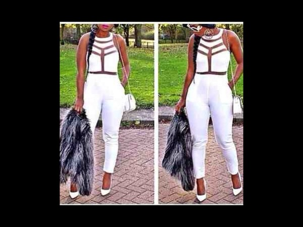 jumpsuit white see through