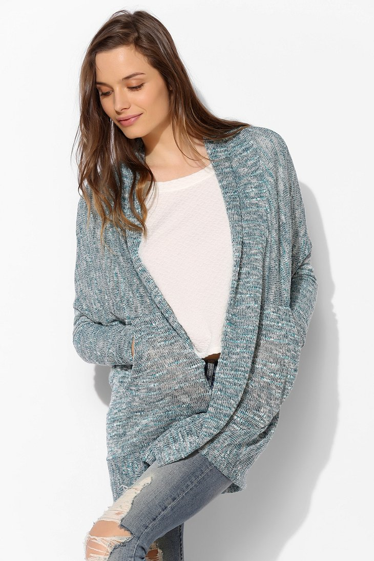 Sparkle & Fade Cocoon Pocket Cardigan - Urban Outfitters