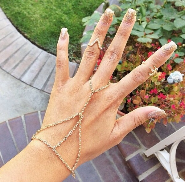jewels ringcelet knuckle ring knuckle ring cute bracelet cute ringcelet gold midi rings cute