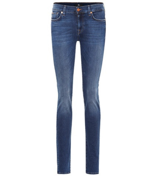 7 For All Mankind Roxanne Slim Illusion jeans in blue
