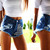 477 Half Front Studded Shorts | RUNWAYDREAMZ