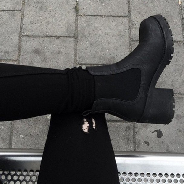 shoes boots booties soles black booties black boots ankle boots chelsea boots black heels high heels