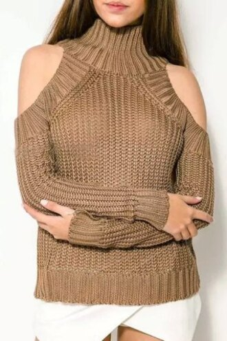 swimwear cut-out fashion style brown fall outfits winter outfits warm cozy casual turtleneck