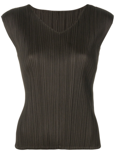 Pleats Please By Issey Miyake t-shirt shirt t-shirt women brown top