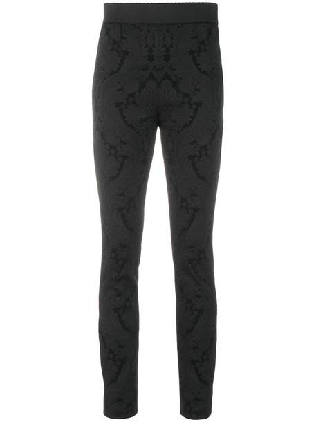 Dolce & Gabbana women spandex jacquard black pants