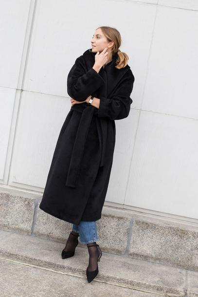 coat tumblr black coat oversized oversized coat black long coat long coat shoes black shoes
