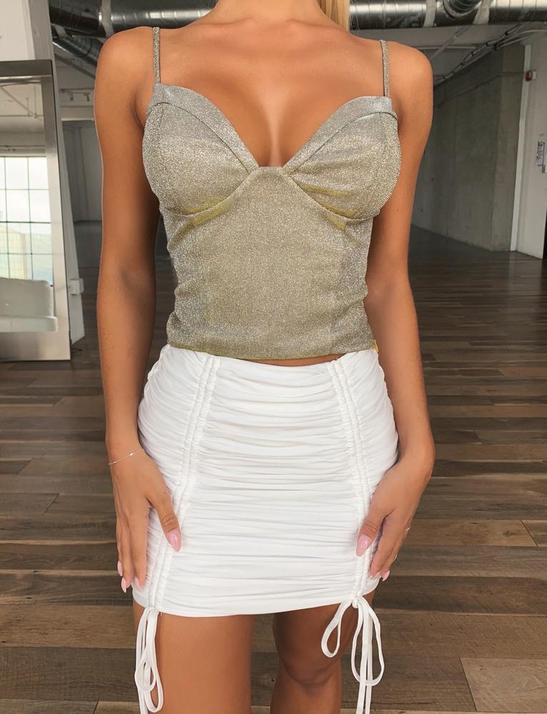 Zion Skirt - White - XS WHITE