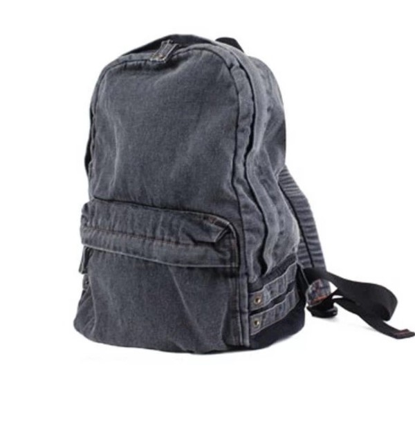 bag hipster backpack vintage black denim backpack