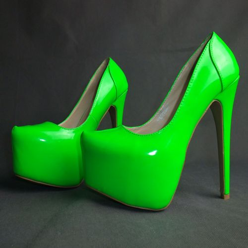 Fashion fashion neon color sexy 16cm neon shoes high heeled shoes green 35   45-inPumps from Shoes on Aliexpress.com