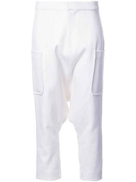 BASSIKE women spandex white cotton pants