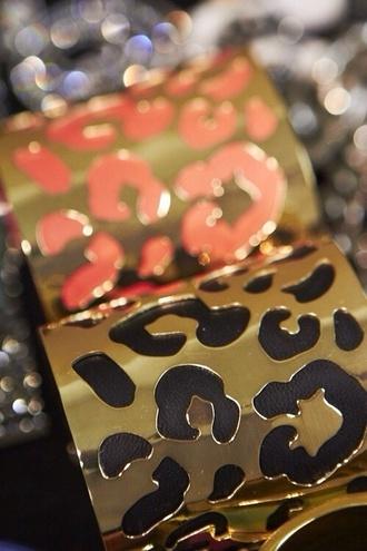 jewels gold bracelet leopard print bracelets gold jewelry gold lepoard print black coral
