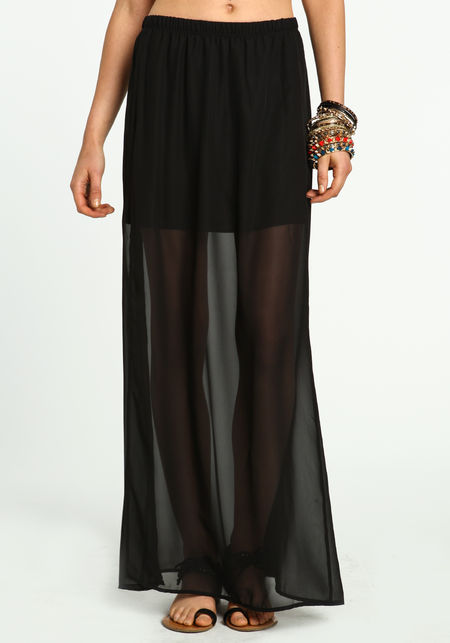 sheer slit maxi skirt culture
