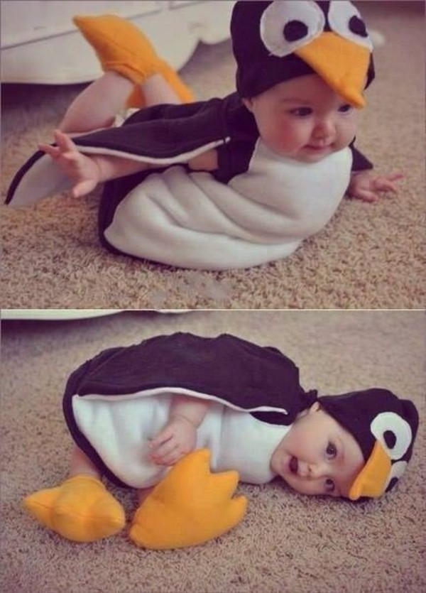 bag penguin kids fashion cute costume dress jumpsuit black and white baby animal mother baby clothing pajamas baby pajamas
