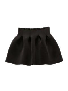Mini high waisted skirt in black