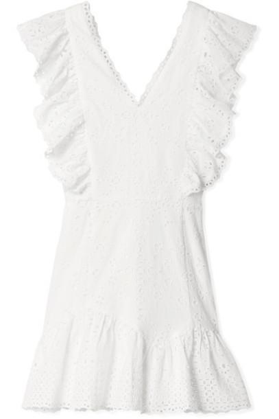 LoveShackFancy dress mini dress mini white cotton
