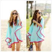 blouse,beach blouse,beach top,summer coverup,cover up,beachcoverup