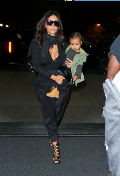 kim kardashian shoes blouse black pants