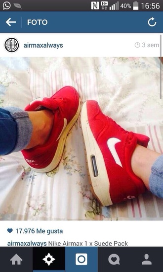 air max airmax airmax1 nike air nike sneakers nike shoes nike airmax red red shoes sneakers white