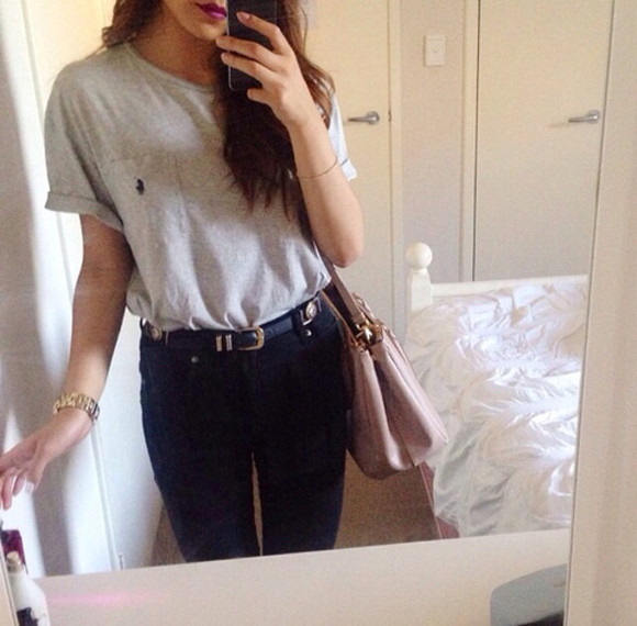 ralph lauren femme shirt black black jeans