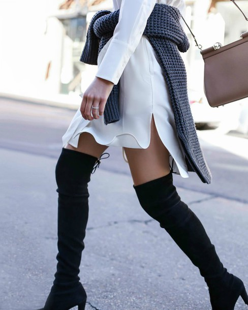 71f7e9d7aaaa the classy cubicle, blogger, date outfit, shoes, tumblr, boots ...