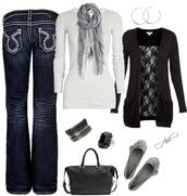 sweater,top,cardigan,shoes,scarf,jewelry,jewels,jeans