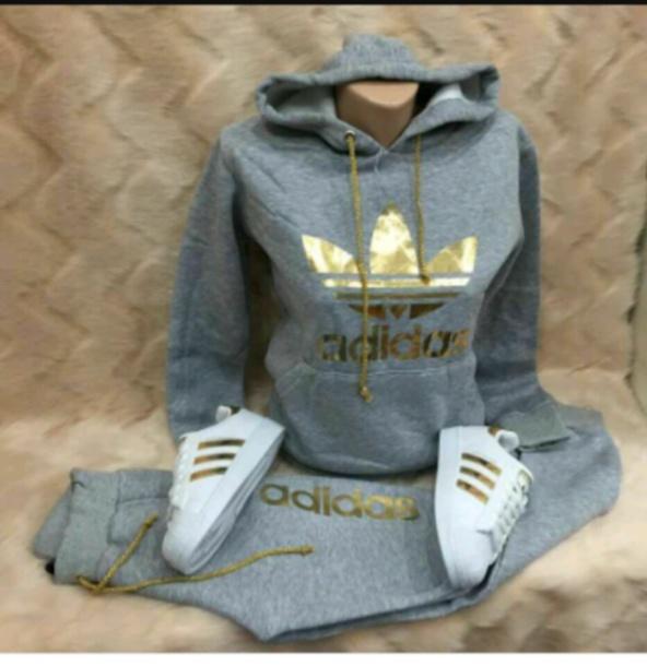 shirt gray adidas hoodie