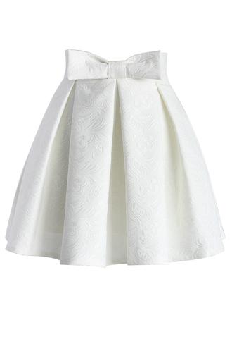 skirt sweet your heart jacquard skirt in white chicwish mini skirt white skirt jacquard skirt