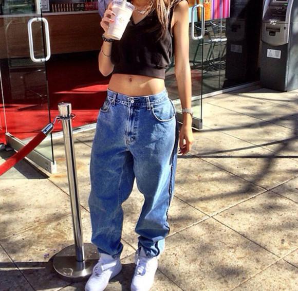 girly grunge hipster jeans gangsta ganster gangsta rap made me do it crop tops tank top