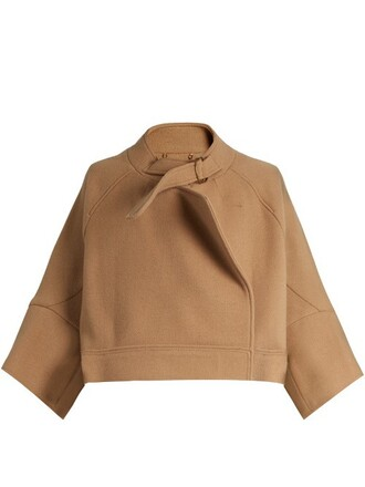 jacket wool camel