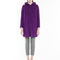 Max&co. - brushed double wool duffle coat, purple