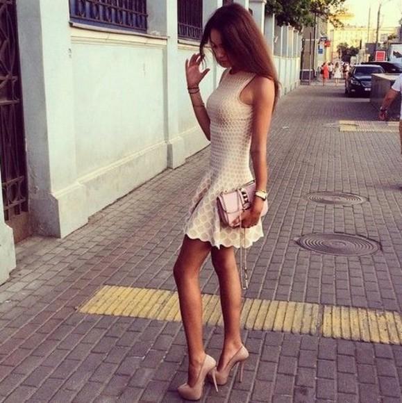 nude dress nude classy gorgeous