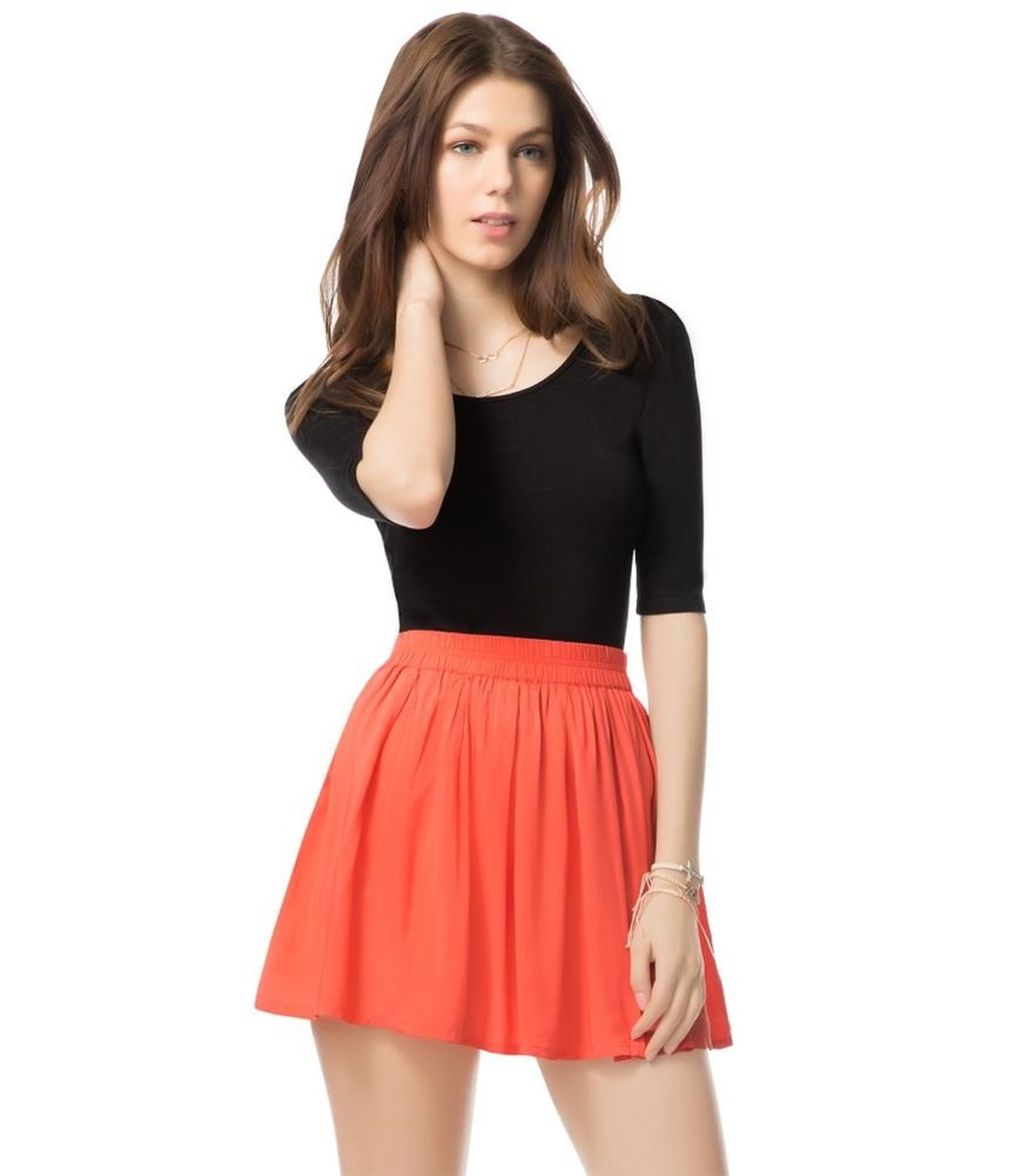amazoncom aeropostale juniors flippy pleated skirt clothing