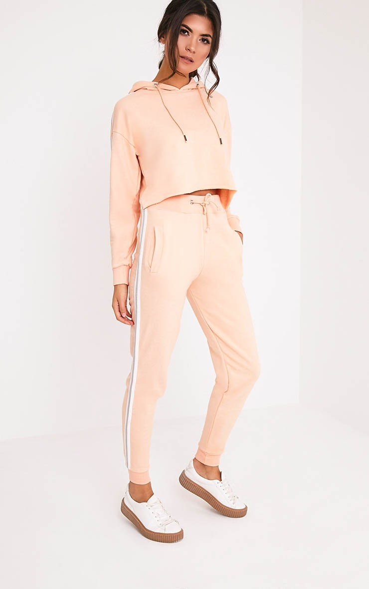 Gwen Nude Side Stripe Joggers