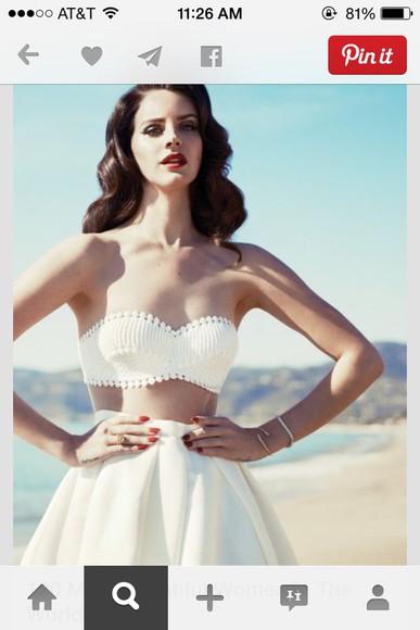 lana del rey dress white dress beach dress twopiecedress