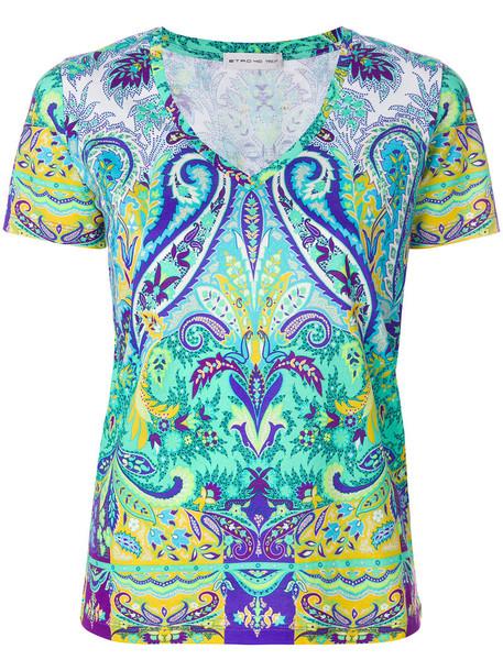 t-shirt shirt t-shirt women cotton print paisley top
