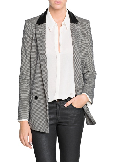 MANGO - CLOTHING - Jackets - Houndstooth suit blazer
