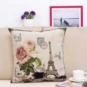 home accessory,print,cute,soft,comfy,pillow,home decor,flowers,eiffel tower,quote on it,bedroom,mothers day gift idea,valentines day gift idea,holiday season