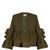 Frida ruffled cotton-blend jacket